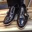 รองเท้าผู้ชาย | รองเท้าแฟชั่นชาย Black Double Monk Strap หนังแท้ ขัดเงา thumbnail 1