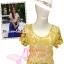 [แบบอั้ม มี3สีคลิกดูสีด้านใน] สไตล์ Chanel TB720:Sunflower Top เสื้อถักลายทานตะวัน น่ารักมาก ใส่ทับmaxi dress หรือใส่เดี่ยวกับกางเกงขาบาน/กระโปรงพลีทM thumbnail 1
