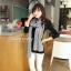 ผ้าพันคอไหมพรม ผ้า cashmere scarf 180x30 cm - สี light Grey thumbnail 8