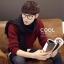ผ้าพันคอผู้ชาย Man scarf ผ้า cashmere 180x30 cm - สี Black thumbnail 1