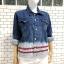ส่ง:งานจีนเสื้อคลุมแจ็คเก็ตยีนส์แท้แบบเก๋ๆสวยๆ/อก40 thumbnail 2