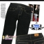 #SKINNY ฮิตฮอตแฟชั่นเกาหลีเก๋สุดๆ PB957 DenimSkinny กางเกงสกินนี่ Skinny ผ้ายีนส์ฟอกสีสวยสียีนส์ดำ งานก๊อป Levi's คัตติ้งด้ายสี ไซส์ M thumbnail 1