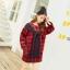 """""""พร้อมส่ง""""เสื้อผ้าแฟชั่นนำเข้าสไตล์เกาหลี ราคาถูก เดรสลายสก๊อตสีแดงดำ ตกแต่งด้วยผ้าพันคอเย็บติดกับชุด thumbnail 1"""