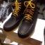 รองเท้าผู้ชาย | รองเท้าแฟชั่นชาย Dark Brown Boots หนังชามัวร์ (หนังลูกวัวแท้) thumbnail 1