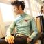 เสื้อผ้าผู้ชาย   เสื้อเชิ้ตผู้ชาย เสื้อเชิ้ตแฟชั่นชาย แขนยาว แฟชั่นเกาหลี thumbnail 1