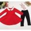 เซต 2 ชิ้น สุดคุ้ม เดรสกระโปรงแดงผ้าเนื้อหนา (ปกเสื้อเป็นหนังเทียม) + เลคกิ้ง (เหมาะสำหรับอากาศค่อนข้างเย็นค่ะ) thumbnail 4