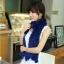 ผ้าพันคอแฟชั่น Magic Scarf - ผ้าพันคอแปลงร่าง เนื้อผ้าไลคราสี Blue thumbnail 2