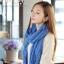 ผ้าพันคอแฟชั่น Cotton Candy : สี Royal Blue thumbnail 4
