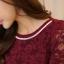 เสื้อทำงานผู้หญิงแขนยาวลูกไม้สีแดง คอประดับมุก สวยหรู thumbnail 10