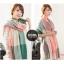 ผ้าพันคอ ผ้าคลุมพัชมีนา Pashmina scarf ลายตาราง size 200x60 cm - สี Light Pink thumbnail 10