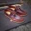 รองเท้าผู้ชาย | รองเท้าแฟชั่นชาย Red Brown Boat Shoes หนัง Oiled Pull Up thumbnail 1