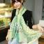 ผ้าพันคอลายจุด ขอบระบายลูกไม้ สีเขียว ผ้าพันคอ viscose - size 160x80 cm thumbnail 1