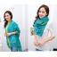 ผ้าพันคอแฟชั่น ลาย Graphic H สีฟ้า ผ้า viscose size 170x70 cm thumbnail 2