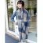ผ้าพันคอ ผ้าคลุมพัชมีนา Pashmina ลายตาราง size 200x60 cm - สี ligh blue thumbnail 5
