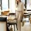 เสื้อเชิ้ตแฟชั่นทำงานผู้หญิงแขนยาวลูกไม้สีขาว ปกสีชมพูโอรส thumbnail 17