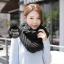 ผ้าพันคอไหมพรมถัก Knit Scarf - size 160x30 cm - สี Black thumbnail 6