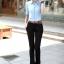 เสื้อเชิ๊ตผู้หญิงแขนสั้น สีฟ้า แฟชั่นสำหรับสาวออฟฟิศ thumbnail 6