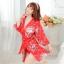 เสื้อคลุมนอนลายกิโมโน สีแดงลายดอกไม้ thumbnail 1
