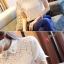 เสื้อทำงานแขนสั้นสีขาว แขนลูกไม้ แฟชั่นสวยหรู thumbnail 9