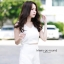 """""""พร้อมส่ง""""เสื้อผ้าแฟชั่นไทย Set เสื้อ ผูกโบว์ + กางเกง (Beauvita) -สีขาว thumbnail 1"""