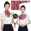 ผ้าพันคอสำเร็จรูป ผ้ายูนิฟอร์ม uniform ผ้าไหมซาติน : L75 thumbnail 1