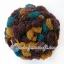 ไหมพรมรังไหมปุ่มใหญ่ สีน้ำตาล-ช็อคโกแลต-เขียวเป็ด thumbnail 1