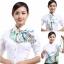 ผ้าพันคอสำเร็จรูป ผ้ายูนิฟอร์ม uniform ผ้าไหมซาติน : L390 thumbnail 4