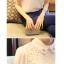 เสื้อทำงานแขนสั้นสีขาว แขนลูกไม้ แฟชั่นสวยหรู thumbnail 7