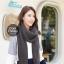 ผ้าพันคอไหมพรมถัก Knit Scarf - size 160x30 cm - สี dark gray thumbnail 1