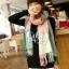 ผ้าพันคอ ผ้าคลุมพัชมีนา Pashmina scarf ลายตาราง size 200x60 cm - สี Light Pink thumbnail 5