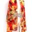 ผ้าพันคอแฟชั่น Retro Graphic : สีส้ม ผ้าชีฟอง size 150x50 cm thumbnail 10