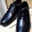 รองเท้าผู้ชาย | รองเท้าแฟชั่นชาย Black Derby Cut Shoes Smooth Leather หนังวัวแท้ thumbnail 1