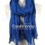 ผ้าพันคอแฟชั่น Cotton Candy : สี Royal Blue thumbnail 1