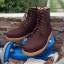 รองเท้าผู้ชาย | รองเท้าแฟชั่นชาย Brown Boots หนังนูบัคแท้ กันน้ำ thumbnail 1