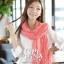 ผ้าพันคอแฟชั่น Cotton Candy : สี Melon Red thumbnail 4