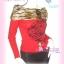 #CheerUp# Annasui Style เก๋ดูดีค่ะ TA389 ::ChicTop ใหม่! เสื้อปกตลบ เฟอร์ลายเสือที่ปก แขนยาวผ้าคล้ายไหมพรมผสมวูล ลายดอกกุหลาบ ดูไฮโซ สีแดง thumbnail 1
