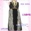 สาวอวบห้ามพลาด! เชียร์สุดๆ LDB492:: Party Chiffon Dress แซคชีฟองคอวีตัวยาวสุดเลิศ ผ้าลายสวยหรู รายละเอียดเก๋ มีซับใน  thumbnail 1