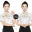 ผ้าพันคอสำเร็จรูป ผ้ายูนิฟอร์ม uniform solid cream : L901 สีพื้น สีทอง thumbnail 1