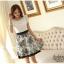 ชุดเดรสทำงานผ้าชีฟอง กระโปรงลายดอกไม้น่ารักๆ thumbnail 12