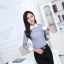 เสื้อเชิ้ตทำงานแขนยาวสีเทา ปกขาว สำหรับเป็นชุดยูนิฟอร์ม ชุดพนักงาน thumbnail 5