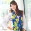 ผ้าพันคอแฟชั่น Retro Graphic : สีม่วง ผ้าชีฟอง size 150x50 cm thumbnail 2