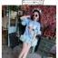 สีชมพู สีฟ้า ฟรุ้งฟริ้งผ้ายืดเนื้อดี [พร้อมส่ง] (ฟรีไซส์สาวอวบใส่ได้) ATA385 ใหม่! มินิเดรส/เสื้อยืดพิมพ์หน้าแมว แขนฟรุ้งฟริ้ง ชายฟรุ้งฟริ้งสุดฮิตแบบดารา #477 thumbnail 4