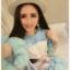 สีชมพู สีฟ้า ฟรุ้งฟริ้งผ้ายืดเนื้อดี [พร้อมส่ง] (ฟรีไซส์สาวอวบใส่ได้) ATA385 ใหม่! มินิเดรส/เสื้อยืดพิมพ์หน้าแมว แขนฟรุ้งฟริ้ง ชายฟรุ้งฟริ้งสุดฮิตแบบดารา #477 thumbnail 6