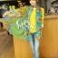 ผ้าพันคอลายดอกไม้ Blossom Bloom สี Blue Green ผ้า Viscose size 180x90 cm thumbnail 4