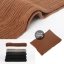 ผ้าพันคอไหมพรมถัก Knit Scarf - size 160x30 cm - สี Brown thumbnail 3