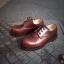 รองเท้าผู้ชาย | รองเท้าแฟชั่นชาย Brown Safety Shoes หนัง Oiled Pull Up thumbnail 1