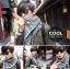 ผ้าพันคอชีมัค Shemash : สีขาวดำ size 100 x 100 cm thumbnail 7