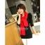 ผ้าพันคอไหมพรม ผ้า cashmere scarf size 180x30 cm - สี red thumbnail 8