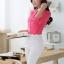 เสื้อเชิ้ตผู้หญิงแขนยาว สีชมพู คลิบขาว thumbnail 5