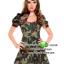 ชุดทหารสาวลายพราง ชุดแฟนซีทหาร ชุดแฟนซีเครื่องแบบ ชุดคอสเพลย์ ชุดแฟนซีสีเขียว thumbnail 3